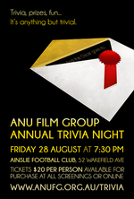 Poster for ANUFG Trivia Night